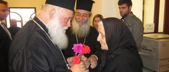 Ο Αρχιεπίσκοπος Αθηνών στη Λαμία