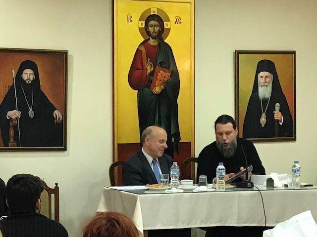 Ο Καθ. Απόστολος Νικολαΐδης στη συνάντηση νέων στη Νέα Ιωνία