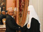 Состоялась встреча Святейшего Патриарха Московского и всея Руси Кирилла с Чрезвычайным и Полномочным послом Эфиопии в России