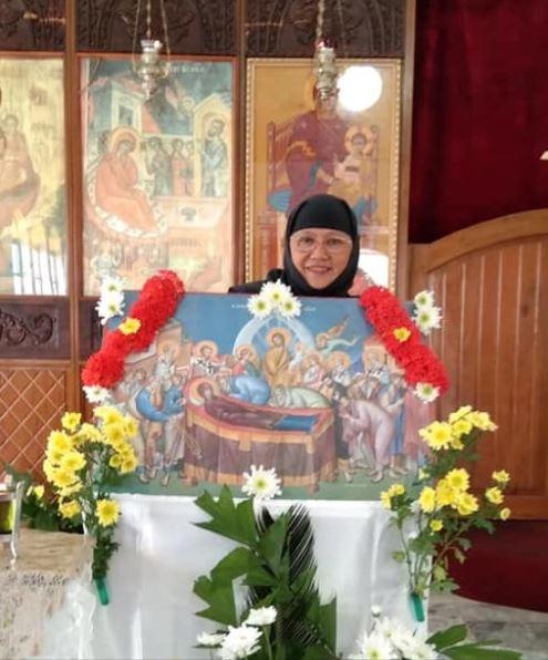 Εορτή της Κοιμήσεως σε Ιερά Μονή στο Μασμπάτε