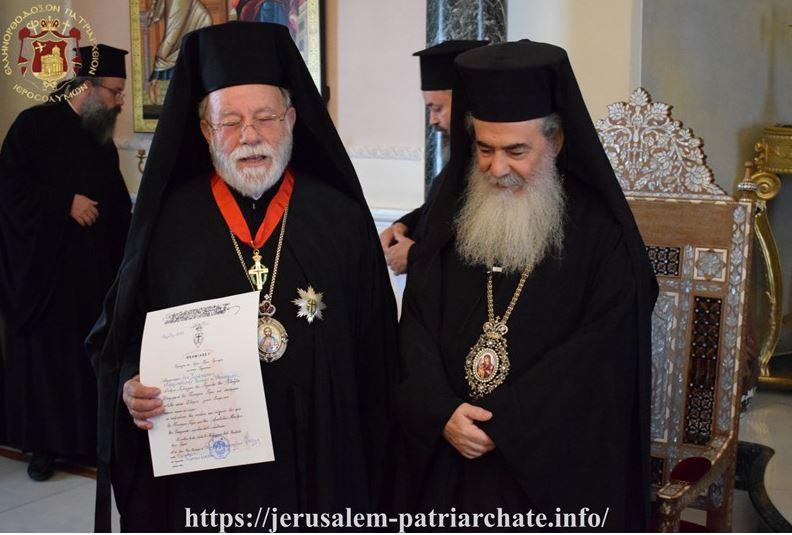 Ο Πατρ. Ιεροσολύμων τιμά τον Μητροπολίτη Ανέων