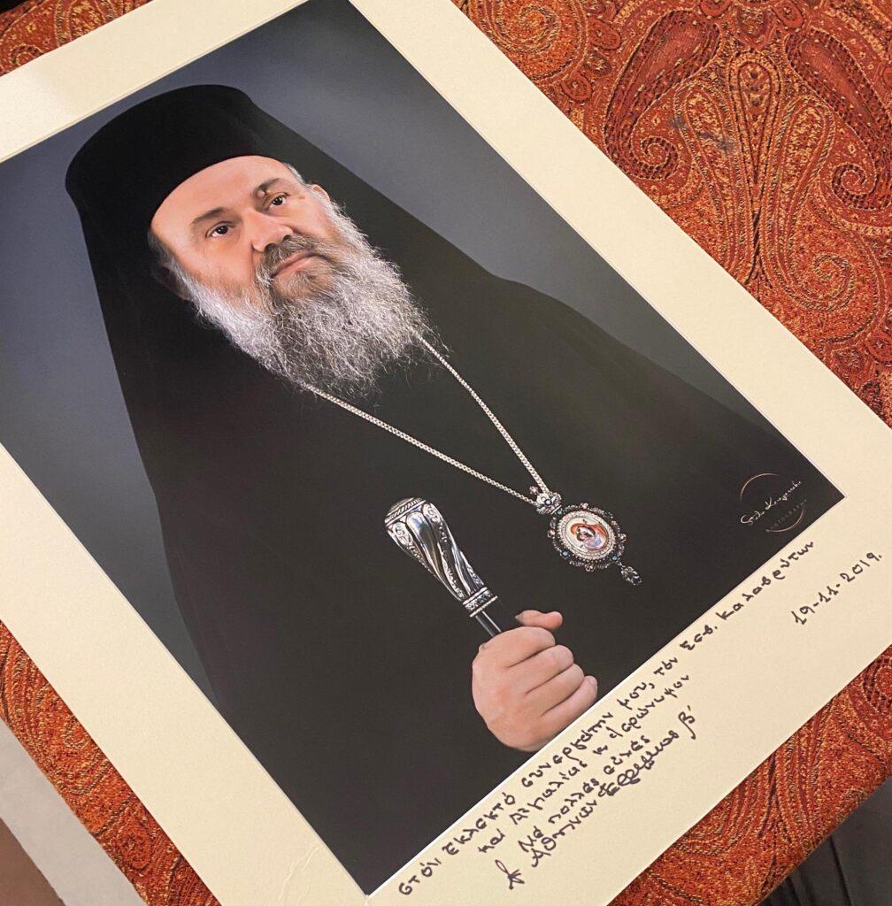 Η ευχή του Αρχιεπισκόπου στο νέο Μητροπολίτη Καλαβρύτων και Αιγιαλείας