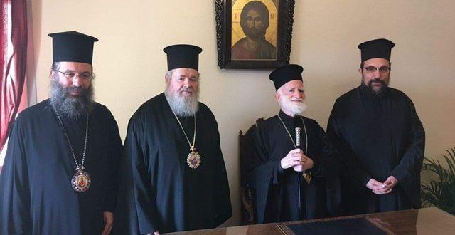 Ευλογημένη επίσκεψη στον Αρχιεπίσκοπο Κρήτης κ.κ. Ειρηναίο
