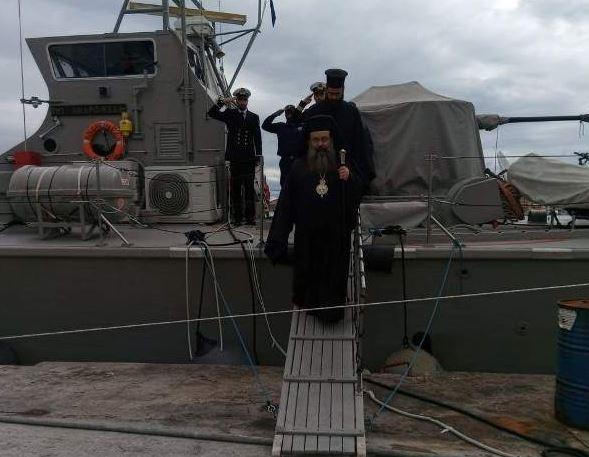 Ο ευχές του Μητρ. Χίου προς τους ναυτικούς που ταξιδεύουν