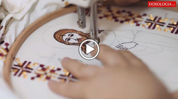 Κεντήματα από τα χέρια μοναχών (βίντεο)