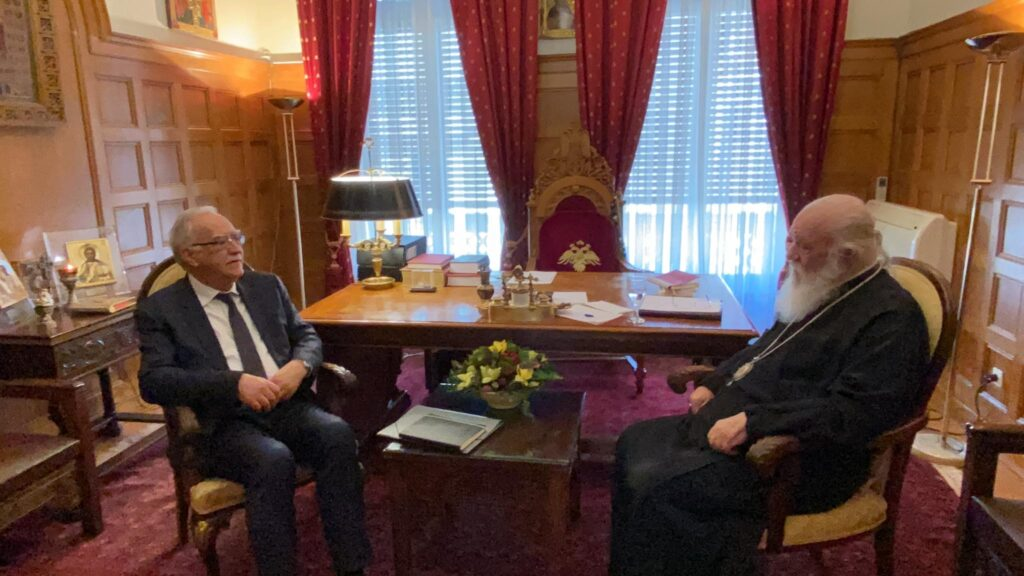 Archbishop of Athens briefed on events for 200th anniversary of Greek Independence