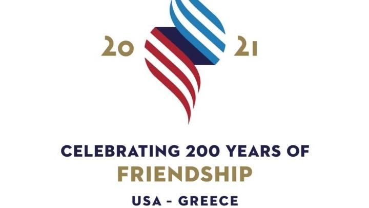 Celebrating 200 Years of Friendship: US Embassy Launches #USGreece2021 Logo