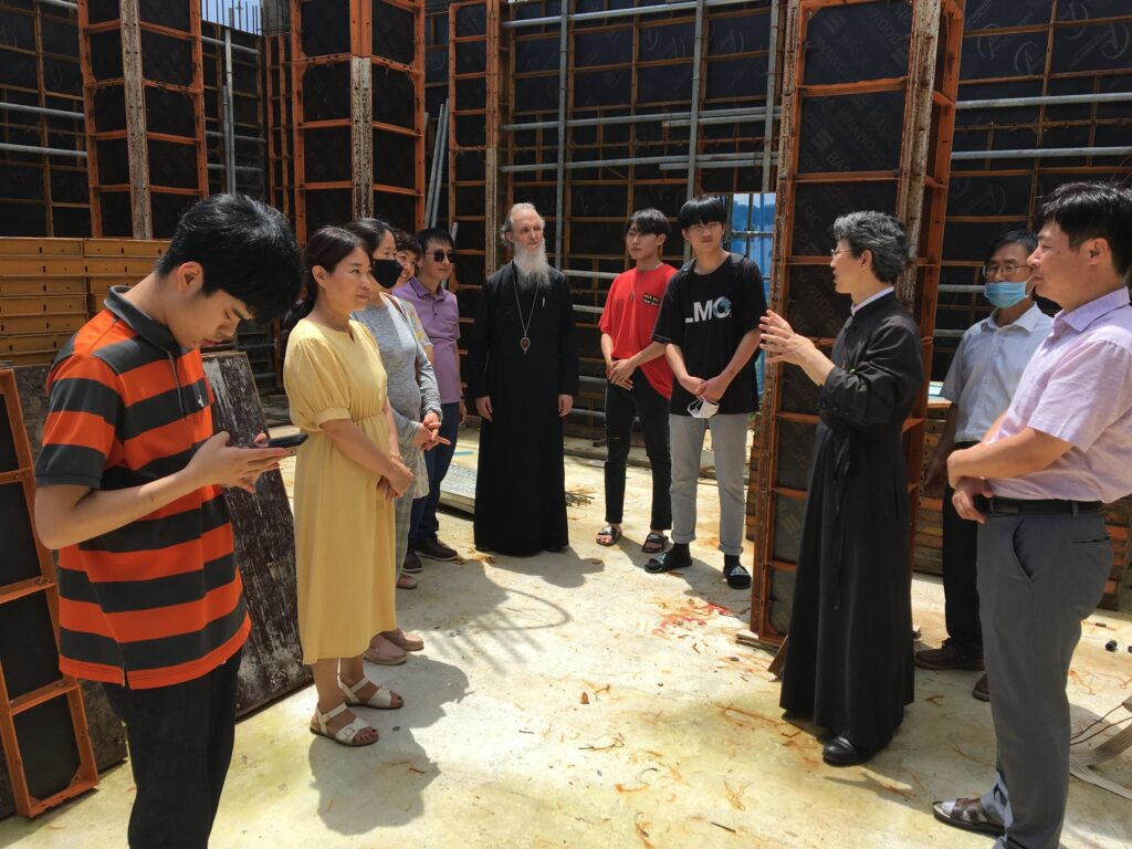 Visit to the under construction Church of the Dormition of the Theotokos in Jeonju, South Korea