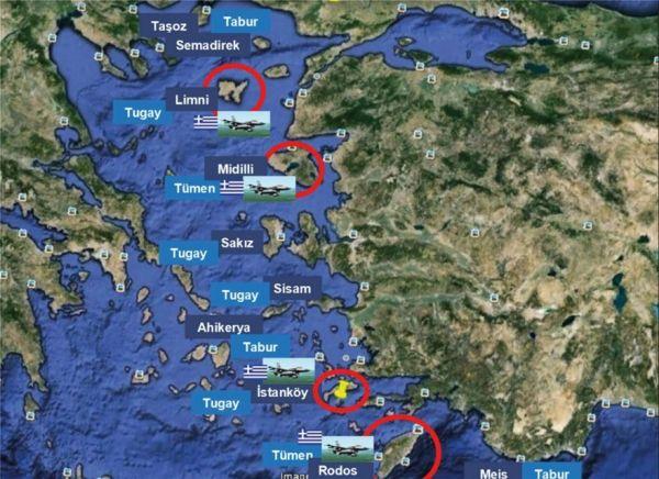Yeni Safak: Πρώτος στόχος τα νησιά του Αιγαίου