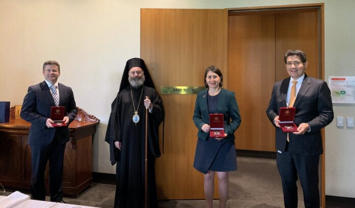 Archbishop Makarios outlines needs of Greek diaspora to NSW Government leaders