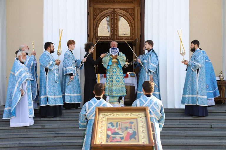 Nativity of the Mother of God celebrated at the Metropolitan Cathedral in Chisinau, Moldova