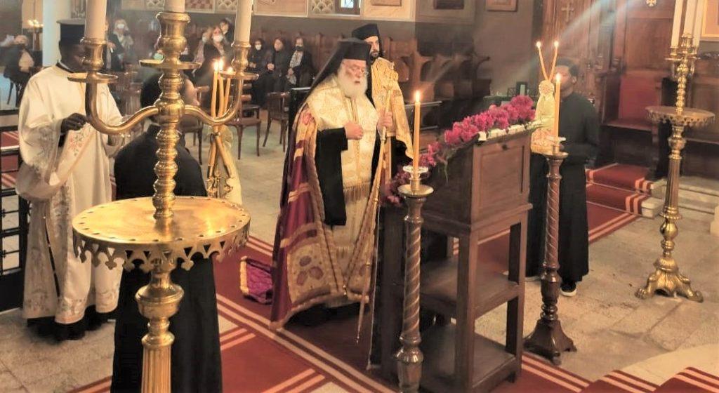 Ο Πατριάρχης Αλεξανδρείας τέλεσε την Ακολουθία των Δ΄ Χαιρετισμών