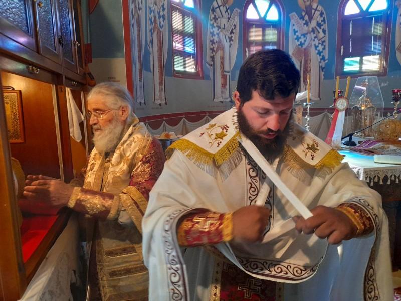 Ο Σεβασμιώτατος στην Οσία Ειρήνη Χρυσοβαλάντου Λέρου (ΦΩΤΟ)