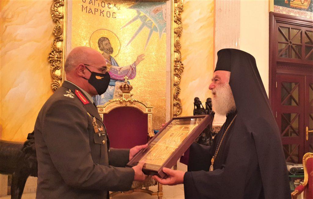 Στον Πατριάρχη Αλεξανδρείας ο Αρχηγός της Εθ. Φρουράς Κύπρου