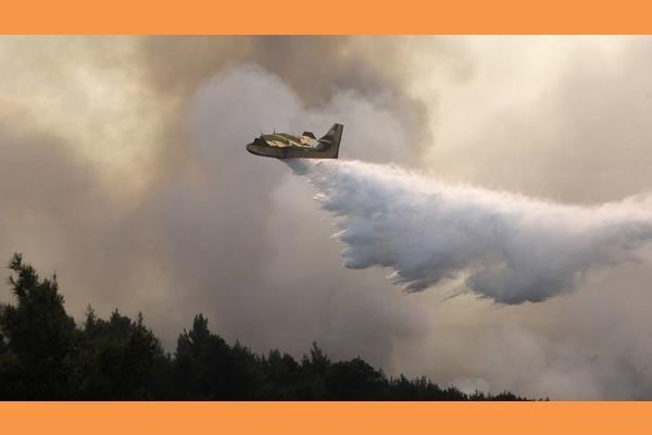 Δύσκολη η πυρκαγιά στην Κεφαλονιά