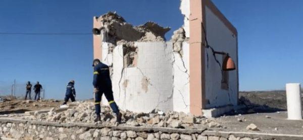 Силно земетресение в Крит причини сериозни щети на няколко църкви